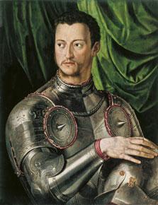 Cosme I de Médicis con armadura,  Bronzino