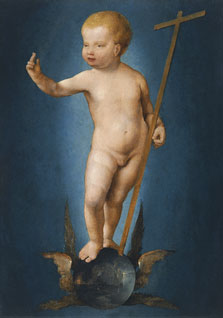 The Infant Christ on the Orb of the World, Joos van Cleve