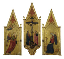 The Annunciate Angel<br />The Crucifixion with the Virgin and Saint John<br />The Annunciate Virgin, Bicci di Lorenzo