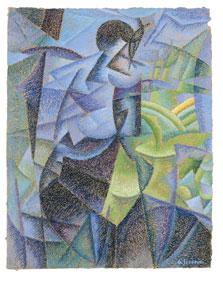 Mujer en la ventana, Gino Severini