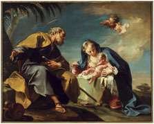 The Rest on the Flight into Egypt, Giovanni Battista Pittoni