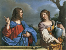 Christ and the Woman of Samaritan at the Well, Giovanni Francesco Barbieri II Guercino