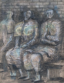 Three Seated Figures, Henry Moore