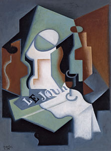 Bottle and Fruit Dish, Juan Gris
