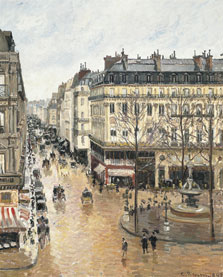 Rue Saint-Honoré in the Afternoon. Effect of Rain, Camille Pissarro
