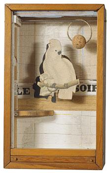 Juan Gris Cockatoo No. 4, Joseph Cornell