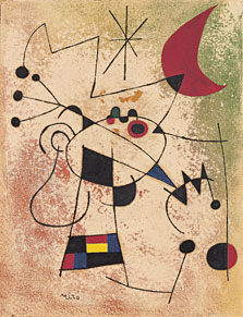 The Lightning Bird Blinded by Moonfire, Joan Miró