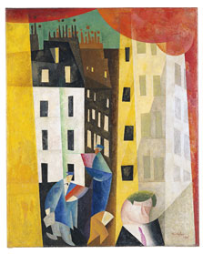 Architecture II (The Man from Potin), Lyonel Feininger