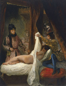 The Duke of Orléans showing his Lover, Eugène Delacroix