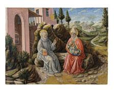 San Sabino conversando con san Benito, Giovanni Boccati