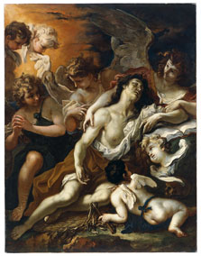 Mary Magdalen comforted by Angels, Sebastiano Ricci