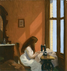 Girl at a Sewing Machine, Edward Hopper
