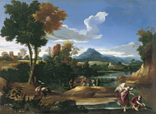 Landscape with Tobias and the Archangel Raphael, Giovanni Francesco Grimaldi