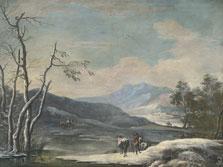 Paisaje de invierno, Marco Ricci