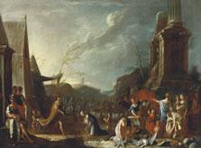 Salomon and the Queen of Sheba, Heinrich Schönfeld