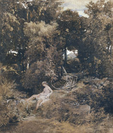 A Nymph at the Fountain (Pan, Chasing a Nymph), Arnold Böcklin