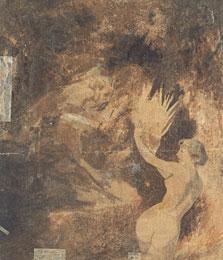 Pan chasing a Nymph (verso), Arnold Böcklin