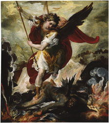 The Archangel Michael overthrowing Lucifer,  Francesco Maffei