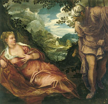 The Meeting of Tamar and Juda,  Tintoretto