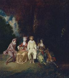 Pierrot Content, Jean Antoine Watteau