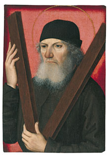 Portrait of a Man as Saint Andrew (recto), Attributed to the Master of the Magdalen Legend