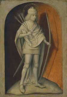 Saint Sebastian (reverse), Attributed to the Master of the Magdalen Legend