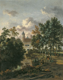 Castillo en un bosque, Jan Wijnants