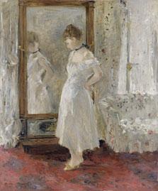 El espejo psiqué, Berthe Morisot