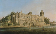 The South Façade of Warwick Castle,  Canaletto