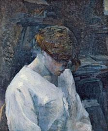 La Rousse in a White Blouse, Henri de Toulouse-Lautrec