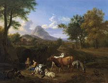 Escena pastoril, Adriaen van de Velde