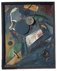 Merzbild 1A (The Psychiatrist), Kurt Schwitters