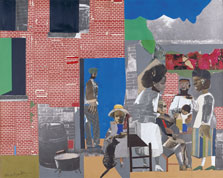 Sunday After Sermon, Romare Bearden