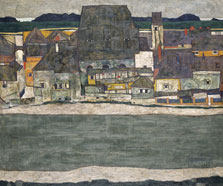 Houses on the River (The Old Town), Egon Schiele