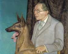 Hugo Erfurth with Dog, Otto Dix