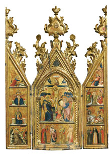 Portable Triptych with a central Crucifixion, Lorenzo Veneziano