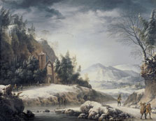 Winter Landscape with Figures, Francesco Foschi