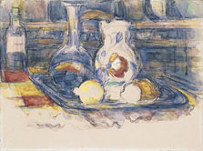 Bottle, Carafe, Jug and Lemons, Paul Cézanne