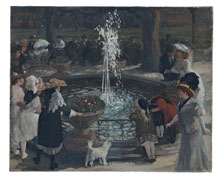 Throbbing Fountain, Madison Square, John Sloan