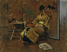 The Kimono, William Merritt Chase