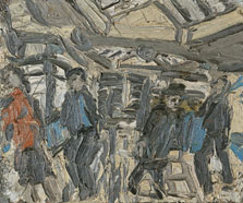 Booking Hall. Kilburn Underground Station No. 1, Leon Kossoff