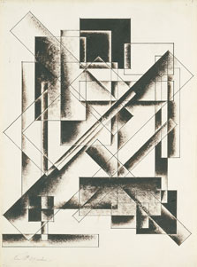 Untitled (Geometrical Drawing), Alexander Vesnin