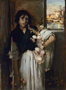 Vendedora veneciana de cebollas, John Singer Sargent