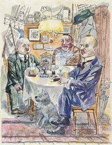 Political Conversation. The Coffee House, George Grosz