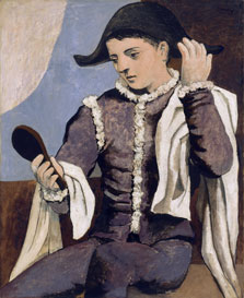 Harlequin with a Mirror, Pablo Picasso