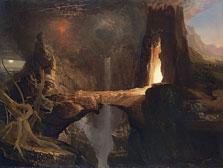 Expulsión. Luna y luz de fuego, Thomas Cole