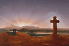 Cruz al atardecer, Thomas Cole