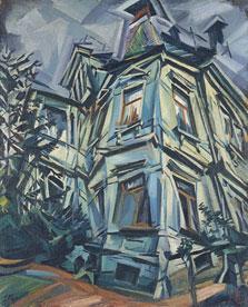 La casa de la esquina (Villa Kochmann en Dresde), Ludwig Meidner