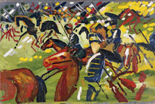 Hussars on a Sortie, August Macke