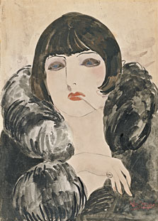 Portrait of a Woman with Cigarette (Kiki de Montparnasse), Kees van Dongen